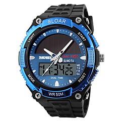 SKMEI Męskie Sportowy Zegarek cyfrowy Cyfrowe Energia słoneczna Dwie strefy czasowe Energia słoneczna Guma Pasmo