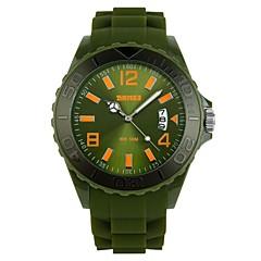 preiswerte Herrenuhren-skmei® Herrenmode runden Zifferblatt Silikonband Kalender Quarz-Armbanduhr 50m wasserdicht verschiedene Farben
