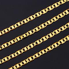 お買い得  ネックレス-男性用 チェーンネックレス  -  ゴールドメッキ ゴールド ネックレス 用途 クリスマスギフト, パーティー
