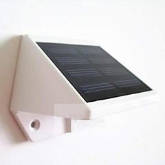 billige Utendørsbelysning-mlsled® 0,6 W 4-LED hvit mini vanntett solcelledrevet gjerde / vegg / hage lampe - hvit