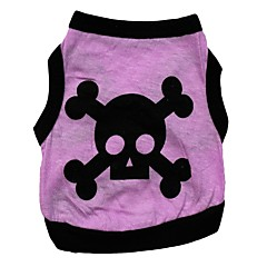 cheap Dog Clothing & Accessories-Cat Dog Shirt / T-Shirt Dog Clothes Heart Skull Purple Cotton Costume For Pets