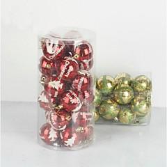 クリスマスデコレーション クリスマスツリー飾り おもちゃ ボール型 キュート かわいい 24 小品