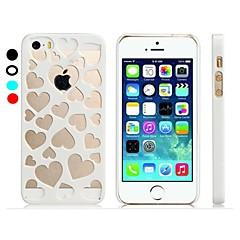 Недорогие Кейсы для iPhone 5-Для Кейс для iPhone 5 Прозрачный Кейс для Задняя крышка Кейс для С сердцем Твердый PC iPhone SE/5s/5