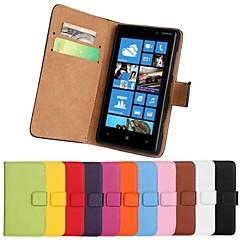 Για Θήκη Nokia Πορτοφόλι / Θήκη καρτών / με βάση στήριξης tok Πλήρης κάλυψη tok Μονόχρωμη Σκληρή Συνθετικό δέρμα Nokia Nokia Lumia 820