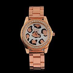 abordables Relojes con Diseño Leopardo-Mujer damas Cuarzo Acero Inoxidable Banda Analógico Leopardo