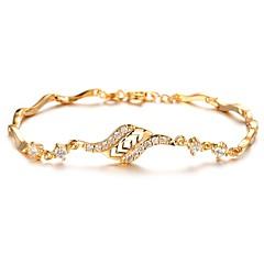 preiswerte Armbänder-Damen Kubikzirkonia Bettelarmbänder - Zirkon, vergoldet Armbänder Gold Für Weihnachts Geschenke / Hochzeit / Party