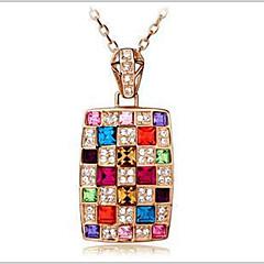 preiswerte Halsketten-Damen Kristall Anhängerketten - Österreichisches Kristall Farbbildschirm Modische Halsketten Für