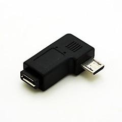 kątowe 90 stopni Micro USB męski na Micro USB Adapter Przedłużacz kobiece Przelicznik Darmowa wysyłka złącza kabla