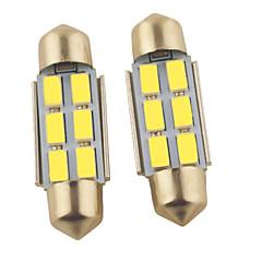 abordables Luces de Coche-2pcs 36mm Coche Bombillas 1.2W SMD 5630 6