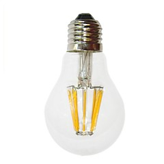 cheap LED Bulbs-E26/E27 6W LED Filament Bulbs G60 6 COB 450-550 lm Warm White Decorative AC 220-240 V