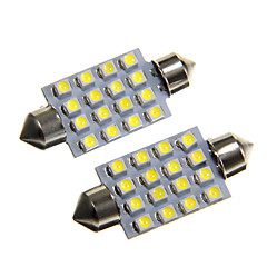 voordelige LED-autolampen-Koud Wit 1W SMD 3528 6000-6500 Leeslamp