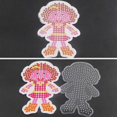 5mm 하마 비즈 DIY 퍼즐에 대한 1PCS 템플릿 분명 퓨즈 구슬 판 위 소녀 딸 패턴