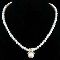 preiswerte Halsketten-Damen Perle Anhängerketten / Perlenkette - Perle, Sterling Silber, Künstliche Perle Elegant, Brautkleidung Silber, Golden Modische Halsketten Schmuck Für Hochzeit, Party, Alltag / versilbert / Strass