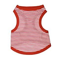 tanie Ubranka i akcesoria dla psów-Kot Pies T-shirt Ubrania dla psów Oddychający Codzienne Naszywka Czerwony Niebieski Kostium Dla zwierząt domowych