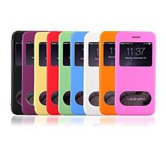 Недорогие Кейсы для iPhone 6 Plus-Для Кейс для iPhone 6 / Кейс для iPhone 6 Plusсо стендом / с окошком / С функцией автовывода из режима сна / Флип / Ультратонкий /