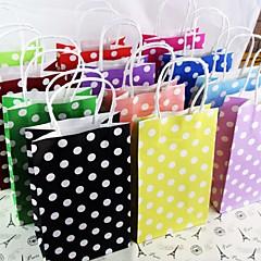 abordables Bolsas y Cajas-artesanías partido bolsas gif papel de lunares bolsa de papel portátil