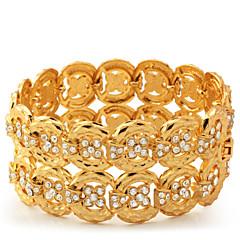 preiswerte Armbänder-Damen Wickelarmbänder - Strass, Platiert, vergoldet Armbänder Für Normal