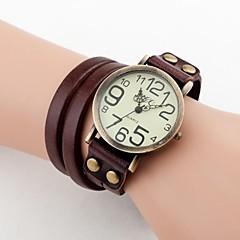 お買い得  大特価腕時計-女性用 ブレスレットウォッチ カジュアルウォッチ PU バンド ボヘミアンスタイル / ファッション ブラック / 白 / ブルー