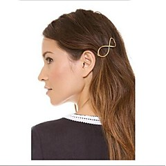 Shixin® Vintage Number 8 Alloy Barrettes  For Women (Golden) (1 Pc)