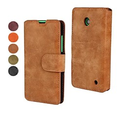 Pentru Carcasă Nokia Portofel / Titluar Card / Cu Stand Maska Corp Plin Maska Culoare solida Greu PU piele Nokia Nokia Lumia 630