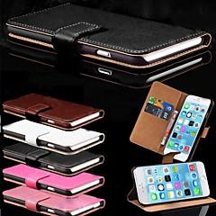 Недорогие Кейсы для iPhone 6 Plus-Кейс для Назначение Apple iPhone 6 Plus / iPhone 6 Бумажник для карт / со стендом Чехол Однотонный Твердый Кожа PU для