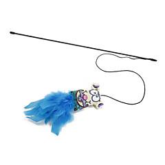 tanie Zabawki dla psów-Zabawka dla kota Zabawki dla zwierząt Wędki dla Kota Sztyft Włókienniczy Gąbka Dla zwierząt domowych