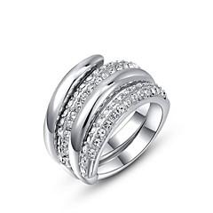 preiswerte Ringe-Damen Statement-Ring - Krystall, vergoldet Personalisiert 6 / 7 / 8 Silber / Golden Für Hochzeit / Party / Alltag / Kubikzirkonia