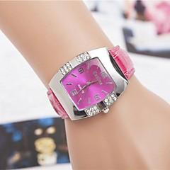 voordelige Bekijk deals-Dames Kwarts Gesimuleerd Diamant Horloge imitatie Diamond PU Band Glitter Wit Blauw Roze Paars roze