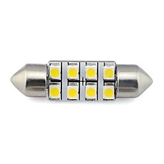 36MM 8x3528 SMD 1.3W 60LM Car Auto Festoon Light for Reading License Plate Lamp White Warm White DC 12V (2 pieces)