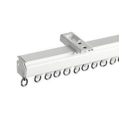 abordables Tratamientos Para Ventanas-Modern Naturaleza Aleación de aluminio Riel recto Ventana de barra de la cortina