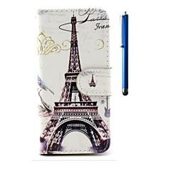 Mert iPhone 6 tok / iPhone 6 Plus tok Pénztárca / Kártyatartó / Állvánnyal / Flip / Minta Case Teljes védelem Case Eiffel torony Kemény