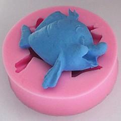 baratos -pequenos bonitos ferramentas fondant peixe bolo de chocolate bolo de silicone molde de decoração, l6cm * * w6cm h1.8cm