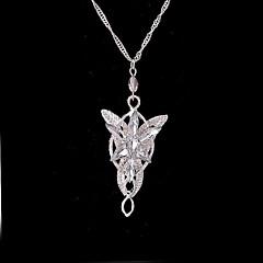 billiga Smycken-Dam Form Mode Hänge Halsband Uttalande Halsband Försilvrad Guldpläterad Legering Hänge Halsband Uttalande Halsband Bröllop Party