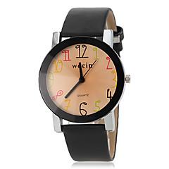 Dames Modieus horloge Kwarts Vrijetijdshorloge PU Band Zwart Wit Wit Zwart