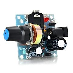 386 미니 오디오 앰프 모듈, arduino-light blue (5 ~ 12v)