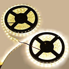 お買い得  LED ストリングライト-防水144ワット600から5050 SMDは3300K 8400ルーメン暖かい白色光の装飾ストリップライトを率いて(10メートルの長さ/ DC 12)