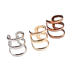 preiswerte Ohrringe-Damen Klips - Gold / Silber / Bronze Für Party / Alltag / Normal