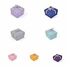 papier pudełko wstążka łuk pierścień
