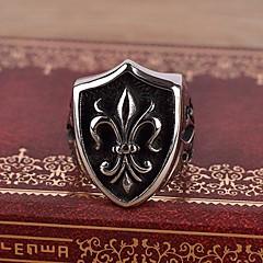 お買い得  指輪-男性用 バンドリング 指輪  -  ステンレス鋼 ヴィンテージ, カジュアル, 欧風 ダックシルバー 用途 贈り物
