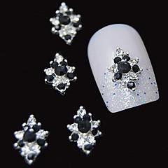 10 buc 3d stras negru floare de diamant accesorii DIY aliaj decorare unghii