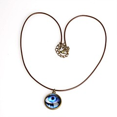 olcso Női ékszerek-Kígyó Circle Shape Geometric Shape Allah szeme Alak Nyaklánc medálok Bőr Réz Nyaklánc medálok Esküvő Parti Napi Hétköznapi Sport