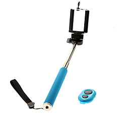 cheap Selfie Sticks-Z07-1 Cellphone Clip + Handheld Monopod + Bluebooth Remote Control
