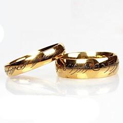 preiswerte Ringe-Damen Eheringe - Edelstahl Modisch Golden Für Alltag / Normal