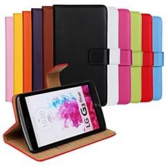 Недорогие Чехлы и кейсы для LG-Кейс для Назначение LG Кейс для LG Кошелек / Бумажник для карт / со стендом Чехол Сплошной цвет Твердый Кожа PU для
