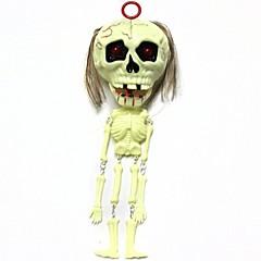 abordables Artículos de Fiesta-1pcs cráneo amarillento juguete colgando de voz de terror parodia