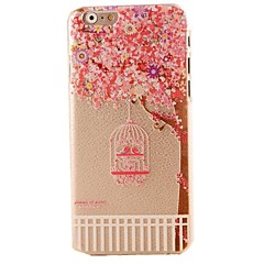 Χαμηλού Κόστους Θήκες iPhone 6s Plus-Pink Cherry Blossoms Pattern Hard Casor iPhone 6 Plus