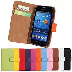 olcso Egyéb tokok Samsung készülékekhez-Case Kompatibilitás Samsung Galaxy Samsung Galaxy tok Kártyatartó Pénztárca Állvánnyal Flip Héjtok Tömör szín PU bőr mert Trend Lite