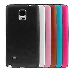 Varten Samsung Galaxy Note Other Etui Takakuori Etui Yksivärinen TPU Samsung Note 4