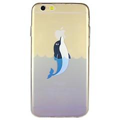Недорогие Кейсы для iPhone 6-дельфинов рисунок прозрачный ТПУ чехлы для iphone 6 плюс