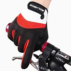 Χαμηλού Κόστους Γάντια Ποδηλασίας-WOSAWE Γάντια για Δραστηριότητες/ Αθλήματα Γάντια ποδηλασίας Διατηρείτε Ζεστό Αναπνέει Προστατευτικό Αντικραδασμική Ολόκληρο το Δάχτυλο